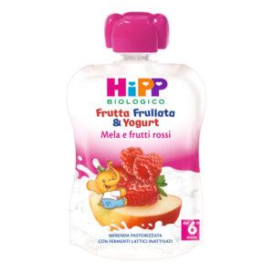 frutta frullata yogurt mela frutti rossi