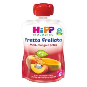 frutta frullata mela mango e pesca hipp