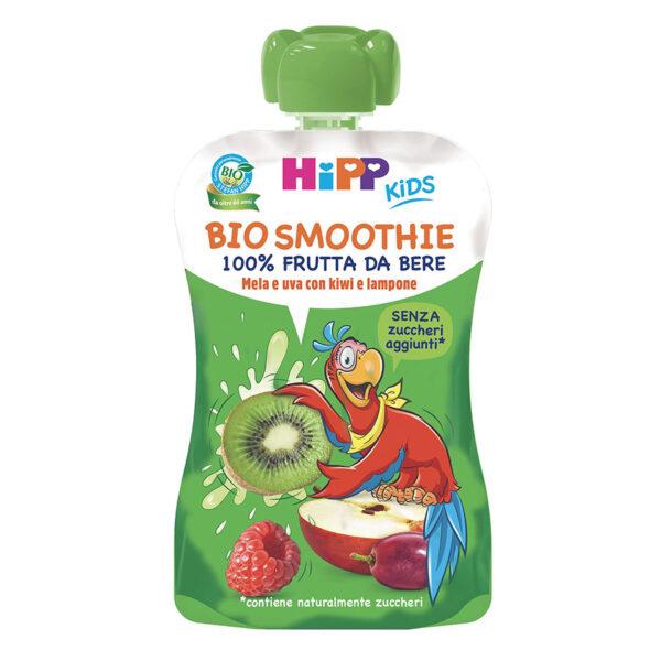bio smoothie mela e uva con kiwi e lampone
