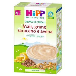 crema di cereali mais grano saraceno e avena