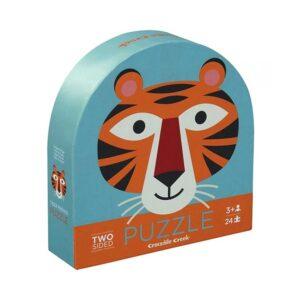 puzzle 2 facce tiger friends