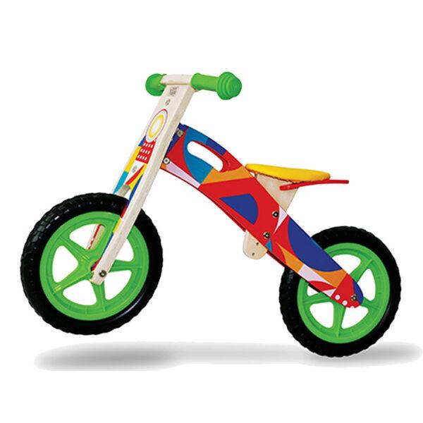 bicicletta in legno cavalcabile