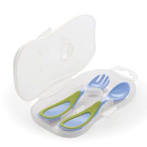 cucchiaio e forchetta con astuccio nuvita