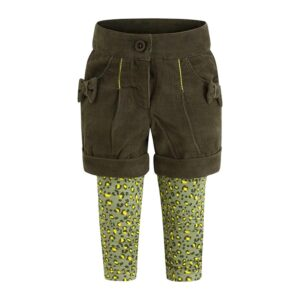 shorts in velluto e leggins wildness