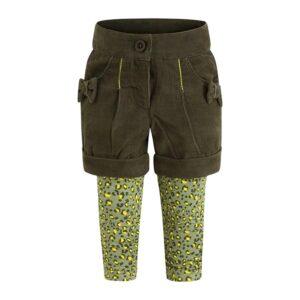 shorts in velluto e leggins wildness