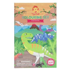 colouring set dinosaurs