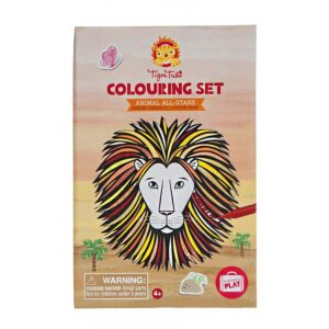 colouring set animal all stars tiger tribe
