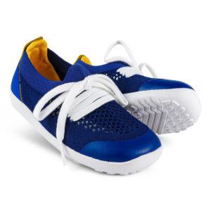 bobux i walk play knit blueberry & giallo