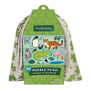 puzzle to go animali del mondo