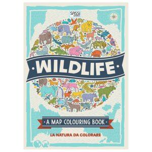 wildlife a map colouring book