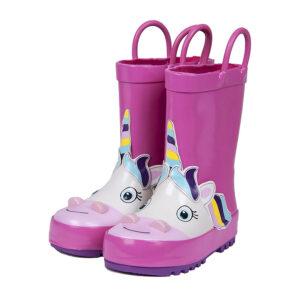 stivaletti da pioggia unicorn rosa