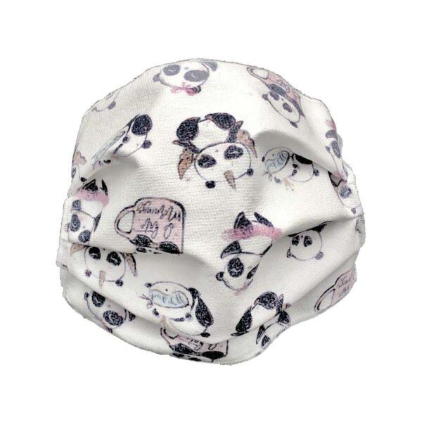mascherina riutilizzabile panda