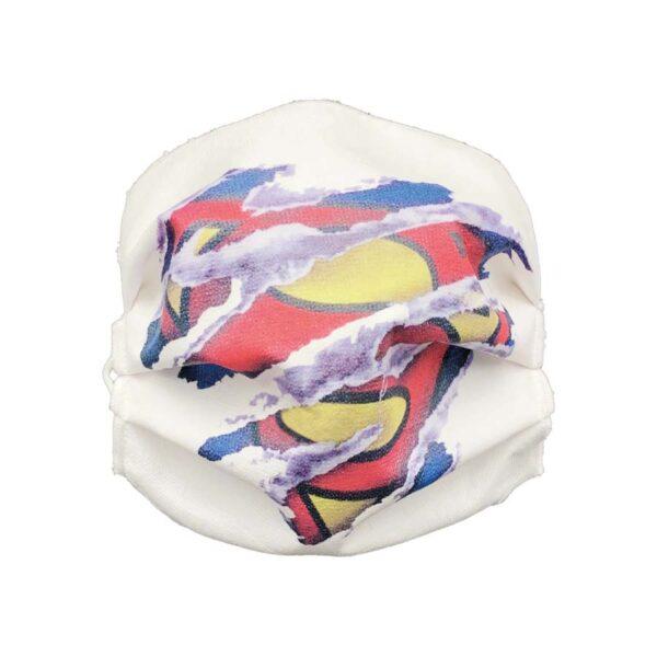 mascherina riutilizzabile superman