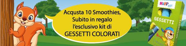 Acquista 10 smoothies, subito in regalo l'esclusivo kit di gessetti colorati
