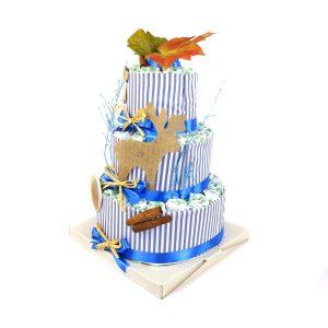 torta di pannolini bosco magico