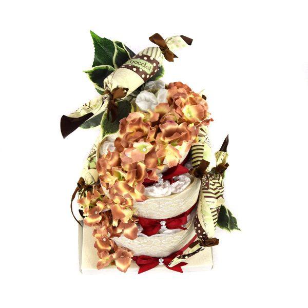 torta di pannolini caramelle