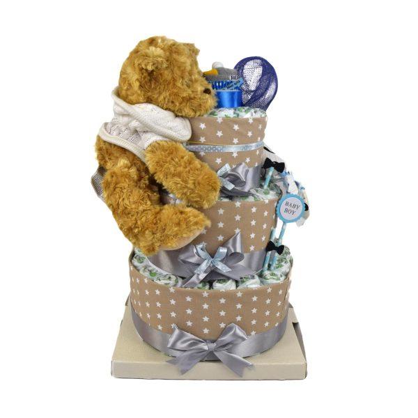 torta di pannolini orsetto